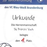 Urkunde vom Brandenburg-Turnier vom 03.05.2017